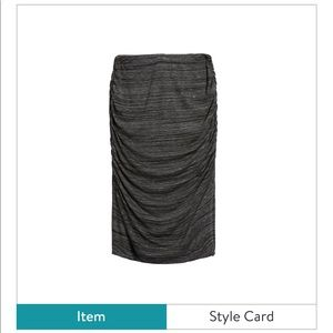 New Renee C.   Dark Grey Pencil Skirt- Size Small
